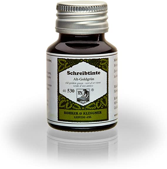 Rohrer & Klingner *desde 1892* tinta para estilográficas - Verde de oro antigua - 50ml