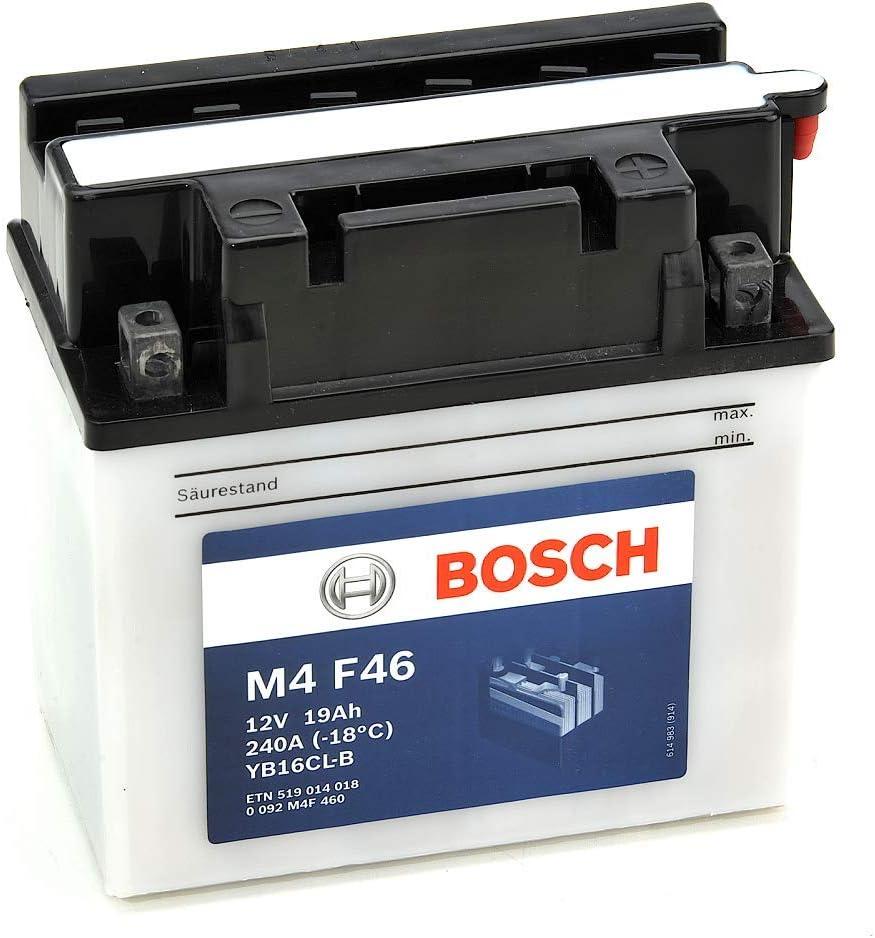 Bosch M4F46 Bater/ía motocicleta YB16CL-B 12V Plomo 19A//h-180A