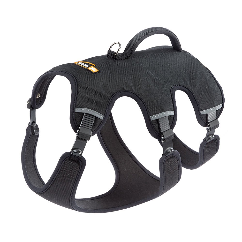 Ferplast ERGOTREKKING P MEDIUM Ergonomic harness for dogs  A  37÷47 cm B  55÷65 cm C   50÷60 cm L 25 cm Black Black(Black) MEDIUM