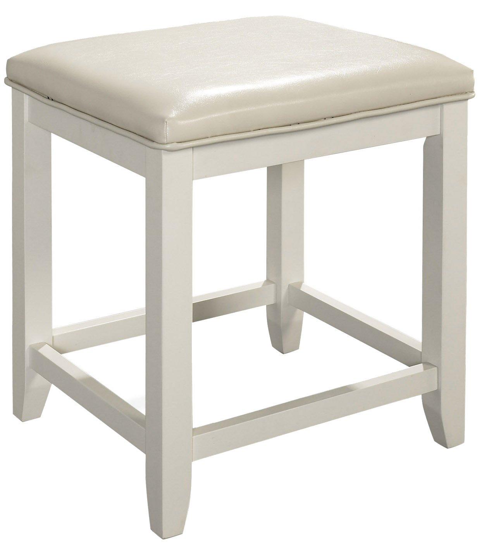 Crosley Furniture Vista Vanity Stool, White by Crosley Furniture