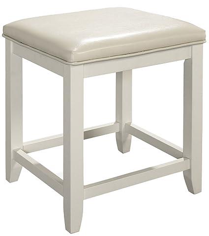 Terrific Crosley Furniture Cf7007 Wh Vista Vanity Stool White Alphanode Cool Chair Designs And Ideas Alphanodeonline