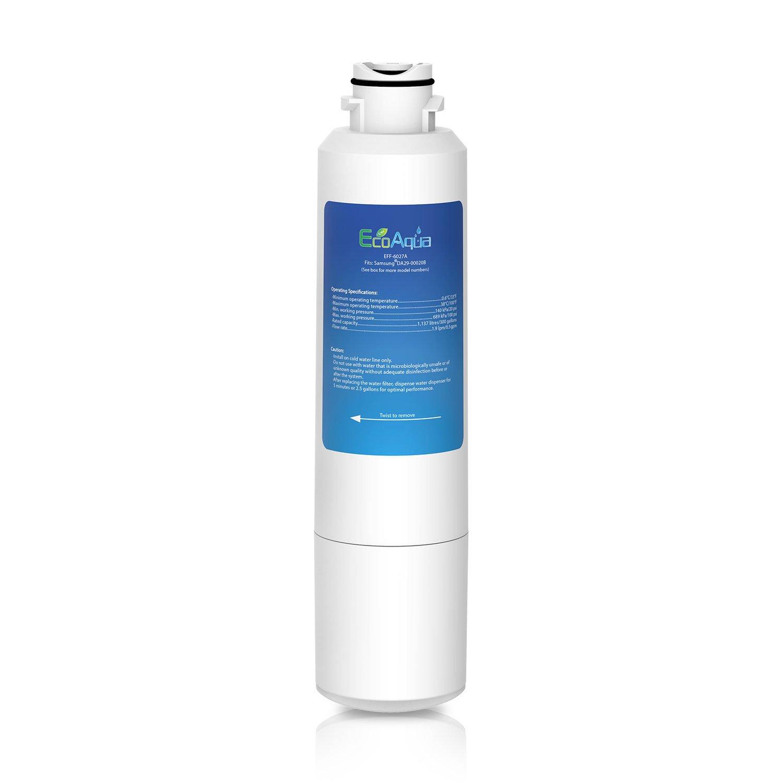 EcoAqua EFF-6027A Ice & Water Refrigerator Filter to fit Samsung DA29-00020B, HAF-CIN/EXP, HAFCIN, HAF-CIN, HAF-CINEXP, HAF-CIN-EXP, DA97-08006A-B, DA2900019A, DA29-00019A, DA2900020A, DA29-00020A, DA2900020B, DA-97-08006A, DA-97-08006A, DA-97-08006A-