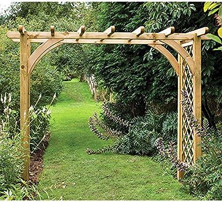 Tamaño grande Ultima pérgola Arch resistente estructura de entramado, jardín al aire libre abierta: Amazon.es: Jardín
