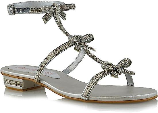 ESSEX GLAM Womens Flat Sandals Strappy