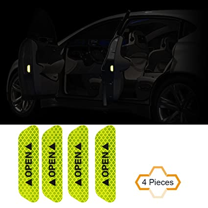 Amazon Com Cogeek 4pcs Set Car Sticker Auto Decor Door Open Warning