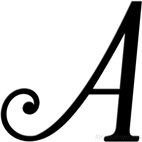 amazon com initial it initial powder coat black metal script letter