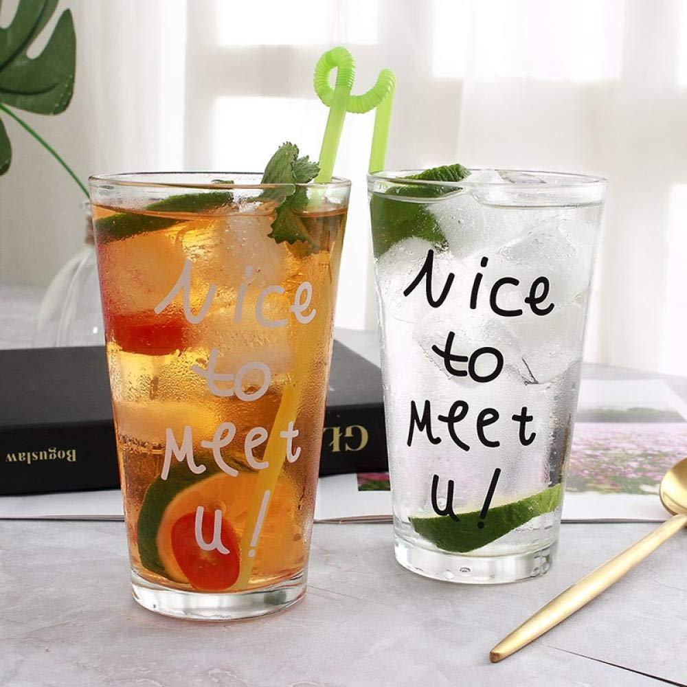 Copa de desayuno de cristal Bebida de jugo Leche Bebida fría Leche ...