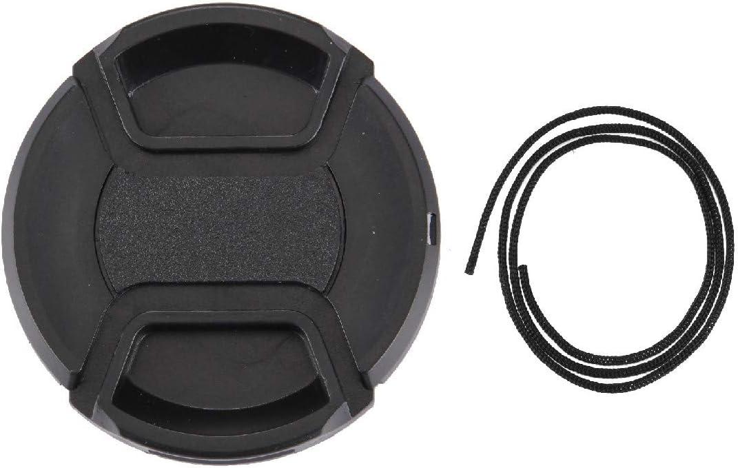 JINGZ 58mm Center Pinch Camera Lens Cap Durable Black