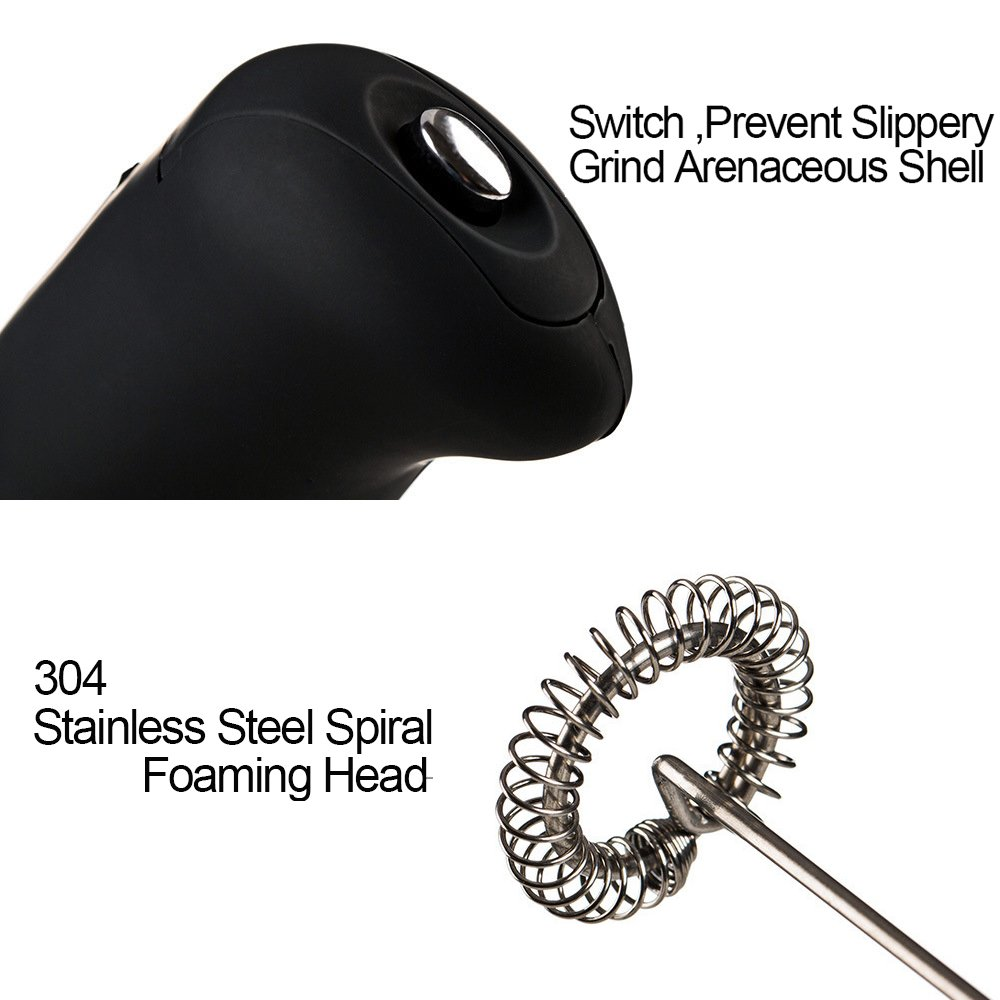 Egg Beater Handheld Mini Electric Milk Frother Coffee Chocolate Whisk Mixer Foamer for Family HXNO-001 Stirrer