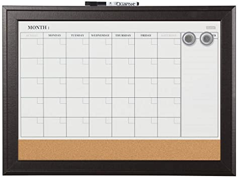 Dry Erase Calendar Board Amazon.: Quartet Combination Magnetic Whiteboard Calendar