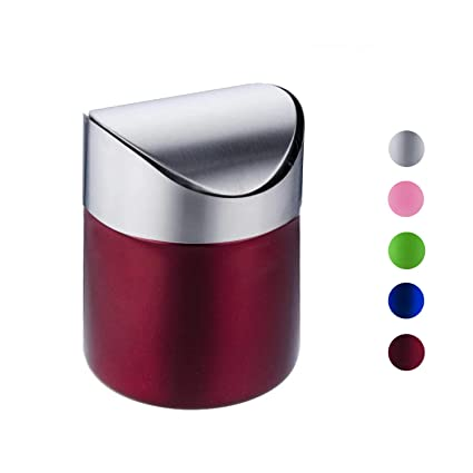 Amazoncom Mini Trash Can With Lid Brushed Stainless Steel Small