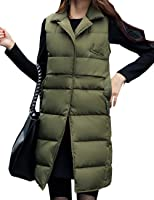 Aishang Women's Lapel Solid Stitching Sleeveless Winter Coat Down Vest