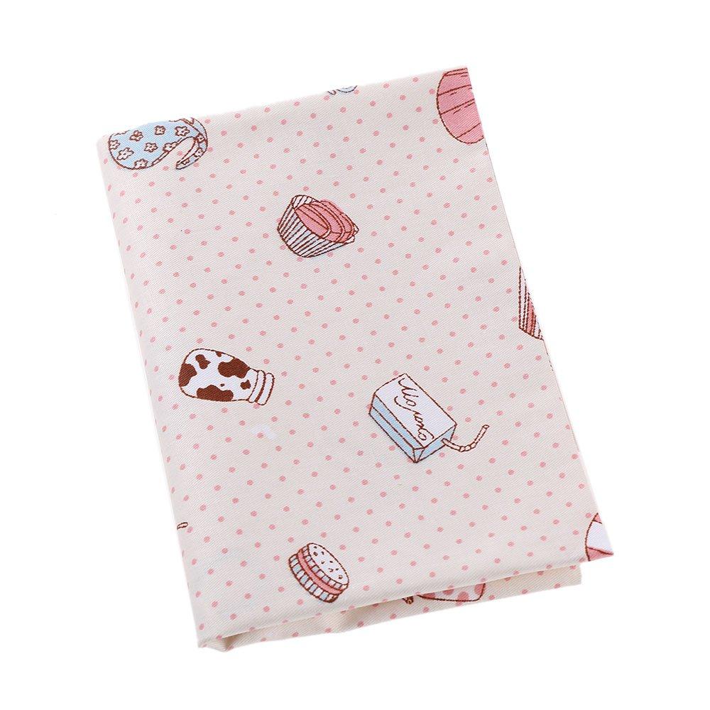 FOVIUPET 2 piezas 50 x 40 cm 100% algodón tejido de manualidades flor impreso patchwork agujas DIY paños para coser acolchado hogar textil: Amazon.es: Hogar
