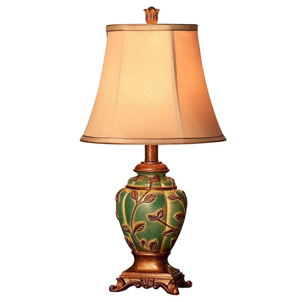 MIAOLIDP Europäische Tischlampe der Schlafzimmer-Nachttischlampe warme kreative mediterrane Tischlampe der Retro- Hochzeit Augenschutz Tischlampe