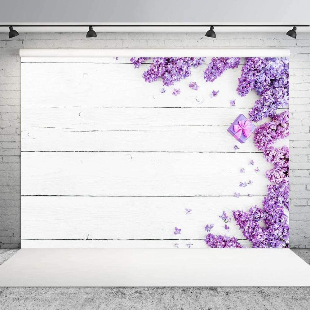 Child Baby Shower Collapsible Picture Portrait Backdrop Photo Studio Props Purple Flower Board Baby Newborn Portrait Birthday Party Backdrops Photography D/écor Background Texture Photography S