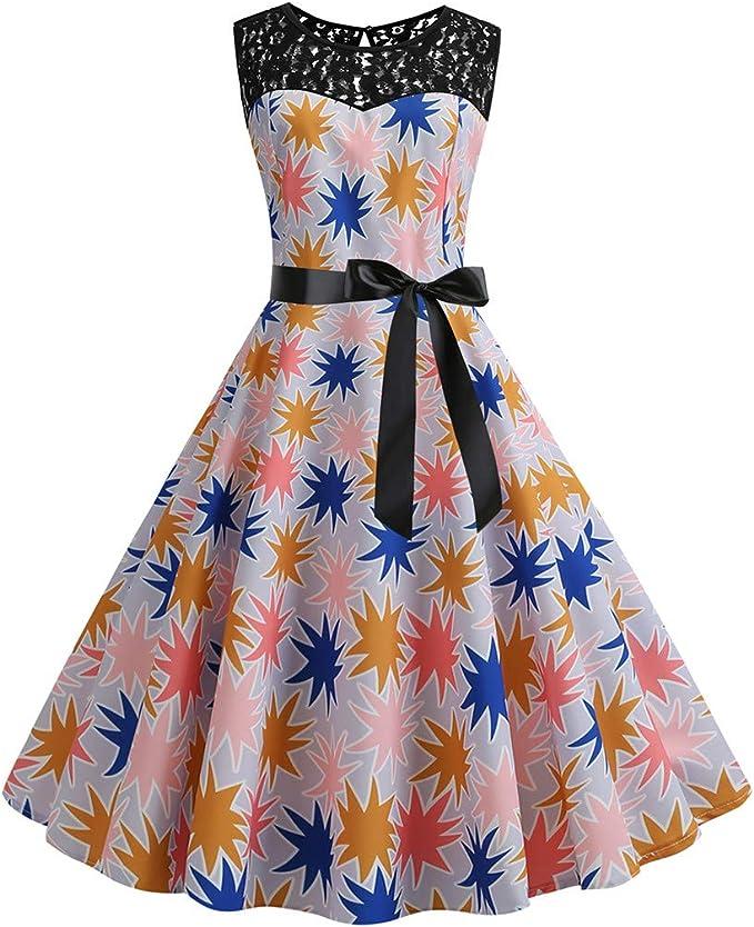 Vestiti Colorati Eleganti.Liqiqi Vestiti Donna Eleganti Vestito Colorato Giuntura Pizzo