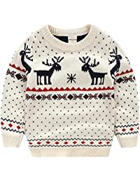 Children's Fireplace Lovely Sweater for Christmas Best Gift