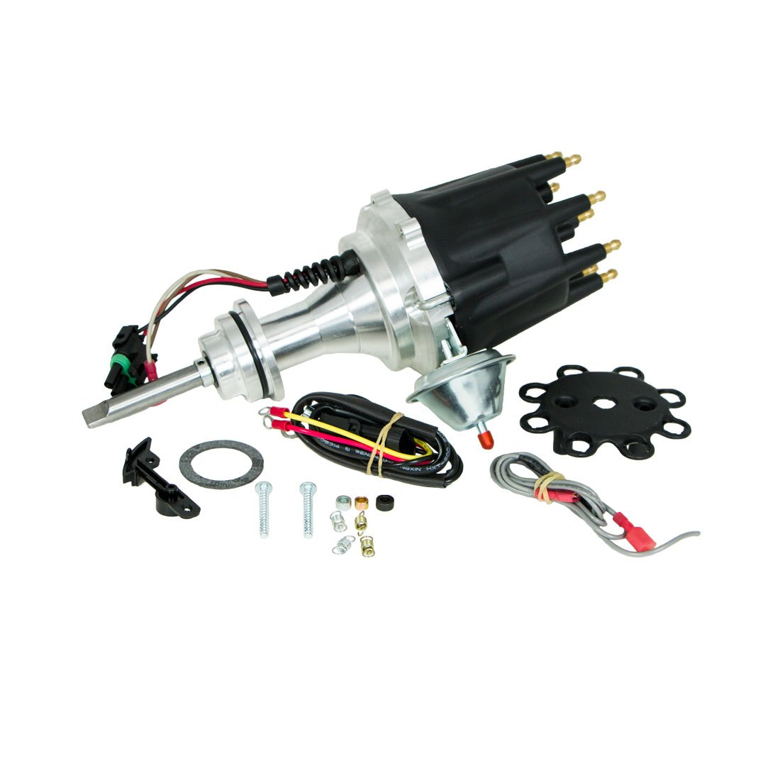 Top Street Performance JM7713BK Pro Series Ready to Run Electronic Distributor with Black Cap