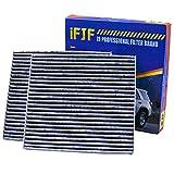iFJF Cabin Air Filter CF10285 Includes Activated Carbon 87139-02090 for Toyota/Lexus / Scion/Subaru Premium against Bacteria Dust Viruses Pollen Gases Odors (Set of 2)