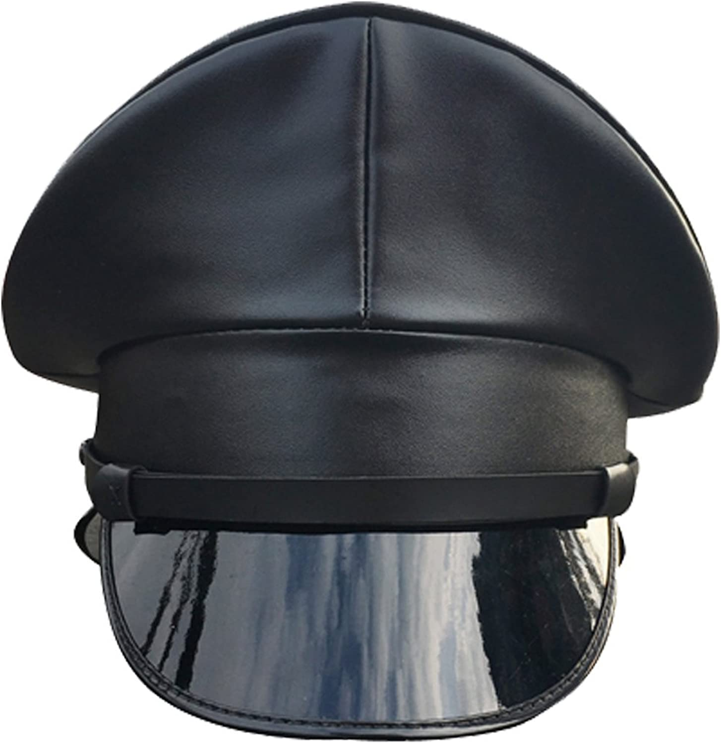 Hao Kaos PU Leather Performance Hat Thailand Military Cap Night Bar Hat