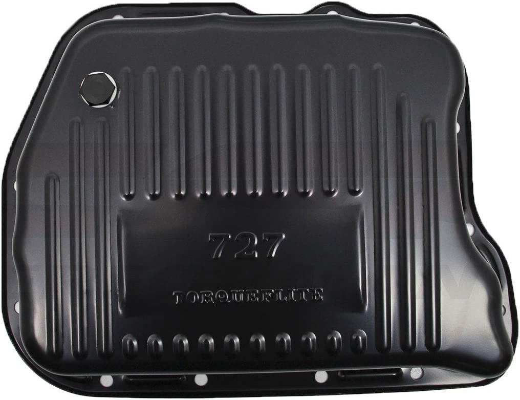 "Fits Mopar 727 Transmission Pans 2.8/"" Deep Extra Capacity Depth Black Steel"