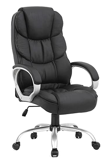 Best Office Chair For Back >> Bestoffice Office Chair Cheap Desk Chair Ergonomic Computer Chair With Lumbar Support Arms Headrest Pu Leather Modern Rolling Swivel Executive Chair