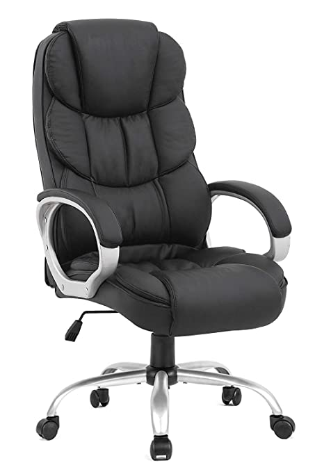 Magnificent Bestoffice Office Chair Cheap Desk Chair Ergonomic Computer Chair With Lumbar Support Arms Headrest Pu Leather Modern Rolling Swivel Executive Chair Home Interior And Landscaping Palasignezvosmurscom