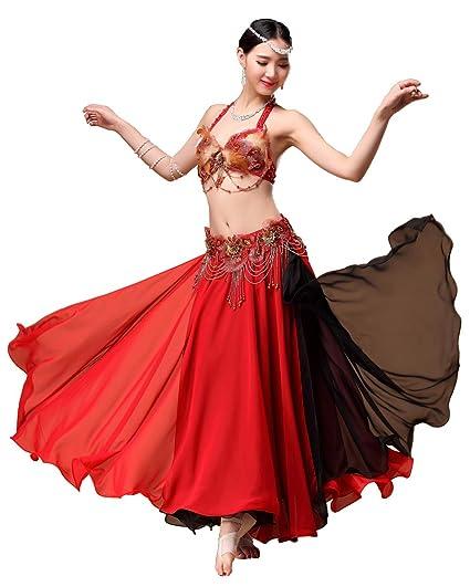 Grouptap Rojo Negro Tribal Gitano Largo Vientre Danza Maxi ...