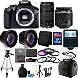 Canon EOS Rebel 1300D / T6 18MP DSLR Camera with 18-55mm IS III and 75-300mm 32GB Accessory Kit
