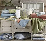 Laura Ashley Heirloom Crochet Grey Quilt Set