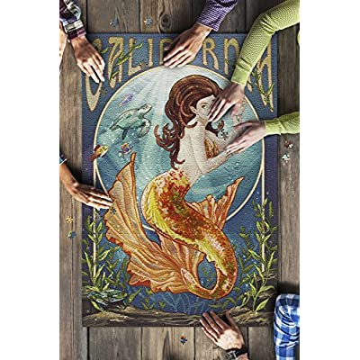 California - Mermaid (Premium 1000 Piece Jigsaw Puzzle for Adults, 20x30, Made in USA!): Toys & Games