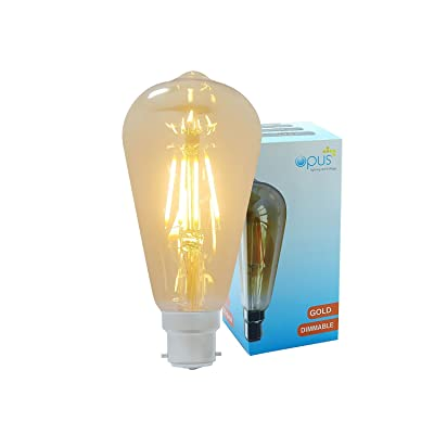 2 x Opus Ampoule Style Industrielle LED Filament Globe ST64 Vintage Or E27 5W Dimmable 2200k
