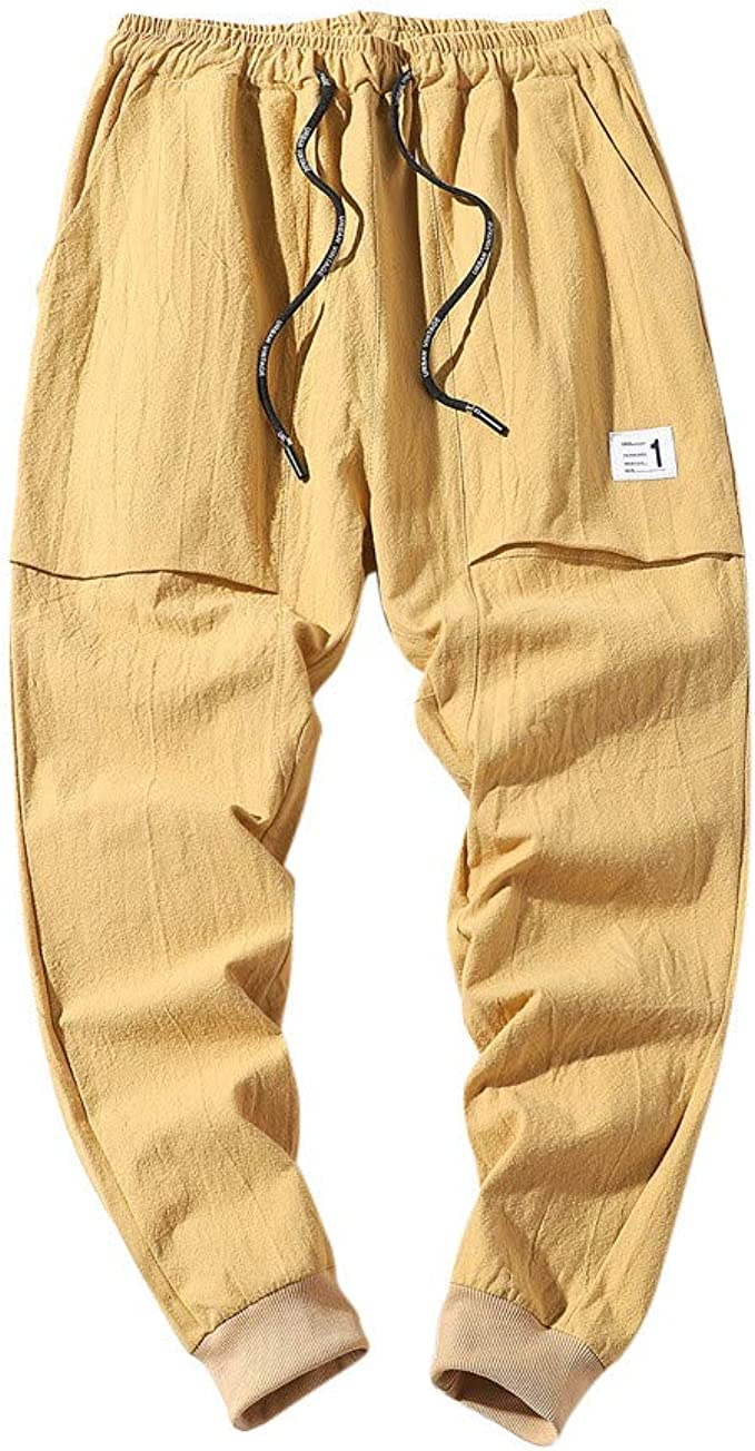 Colmkley Mens Casual Loose Fit Joggers Workout Shorts with Drawstring Pockets