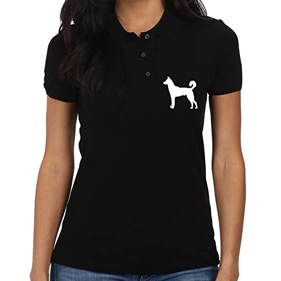 Eddany Canaan Dog silhouette Polo 1njZZSb
