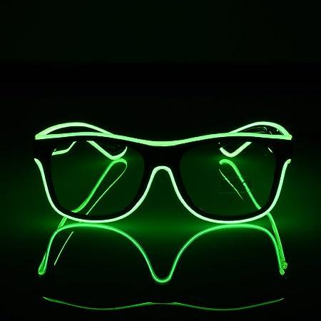 Pro LED Bright Light Luminous Gläser EL Draht Colorful fashion neon ...