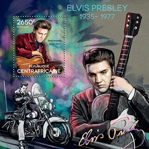 Central Africa 2014 Elvis Presley Stamp Sheet Michel #5154 3H-823