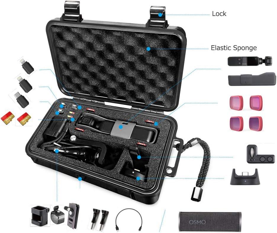 LEKUFEE Mini /étui de Transport /étanche Compatible avec DJI Osmo Pocket Version Osmo Pocket Part et Accessoires