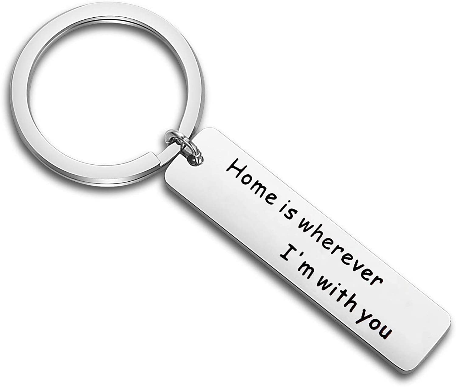 TGBJE Home is Wherever I'm with You Keychain Military Gift for Wife,Girlfriend