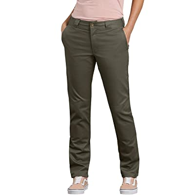Dickies Women's Double Knee Work Pant with Stretch Twill at Women's Clothing store