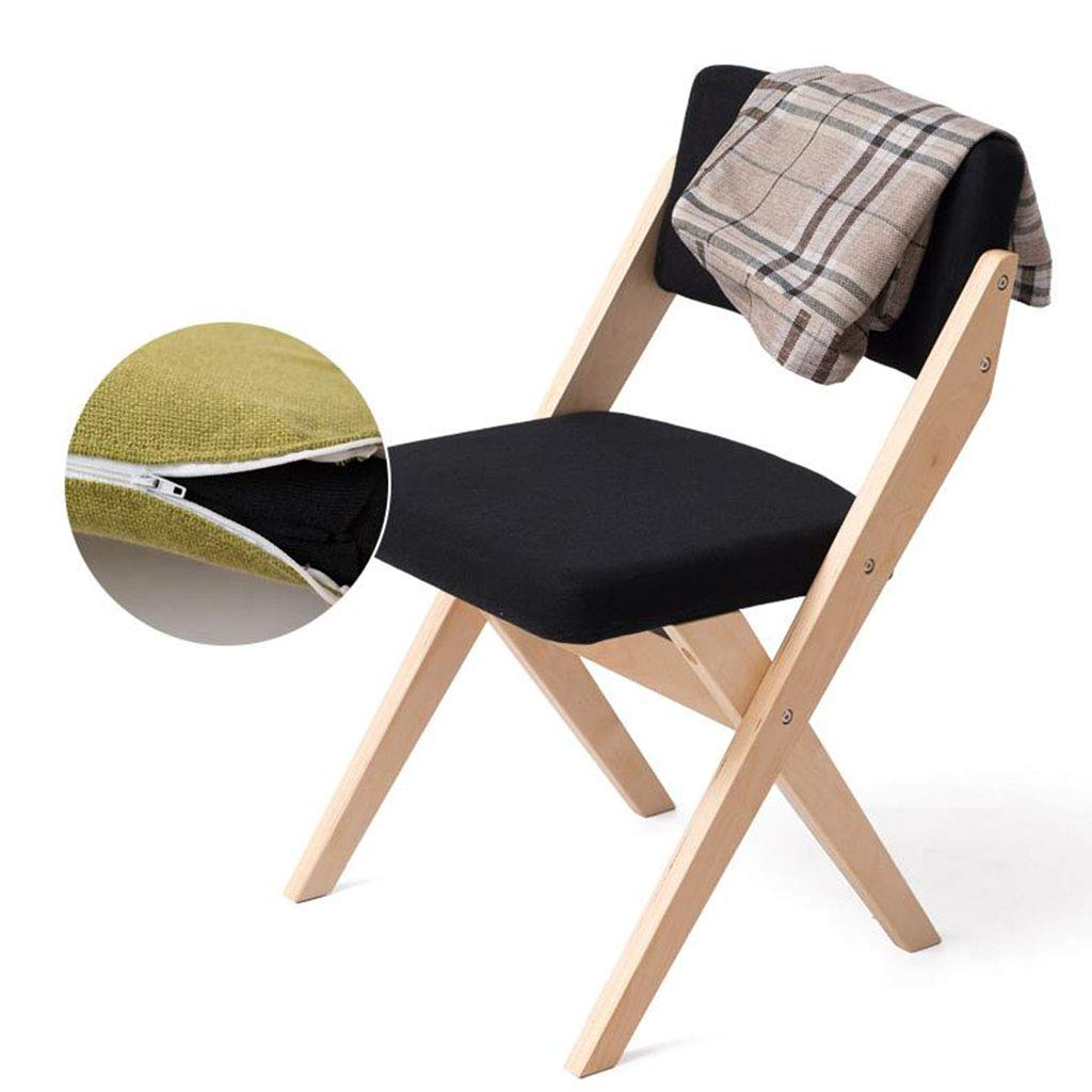 MyChairs Folding Chair Dining Chair Wooden Fabric Restaurant Coffee Chair Backrest Indoor Outdoor