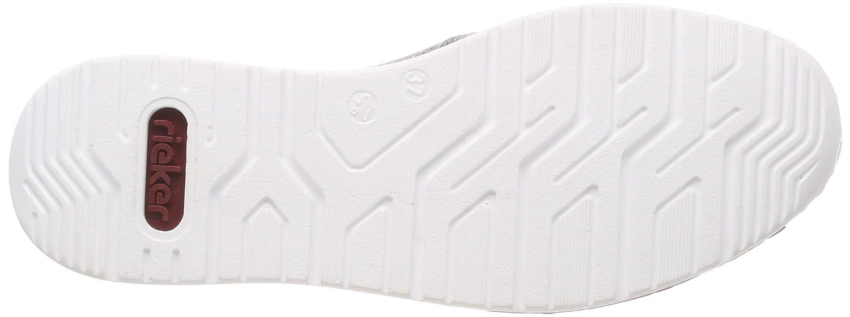 Rieker Damen N5160-42 Obermaterial Leder Slipper