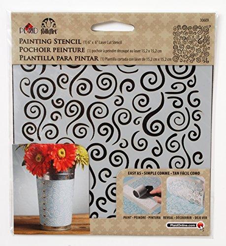 FolkArt Painting Stencil, 30609 Swirl Background (Swirls Stencils)