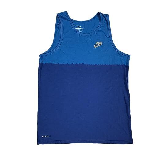 b226546829b65 Nike Men s Dri- Fit Dip Tie Dye Running Tank Top-Blue Ombre 922174 435