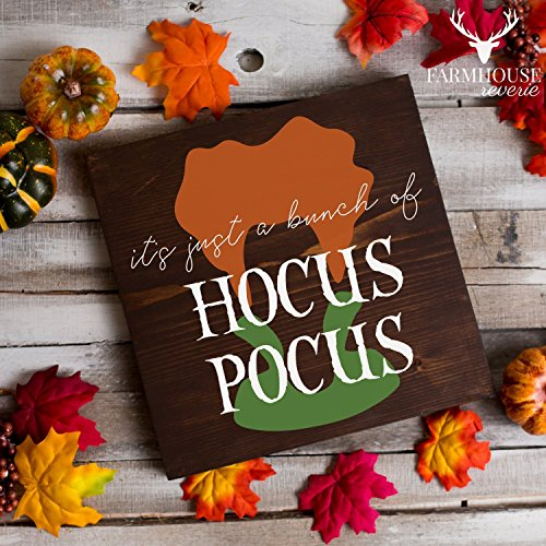 Winifred Sanderson Quote Sign | It's Just a Bunch of Hocus Pocus Sign | Hocus Pocus Halloween Sign | Fall Rustic Sign | Farmhouse Fall Decor | Farmhouse Style | Country Fall Decor | Vintage Fall Sign