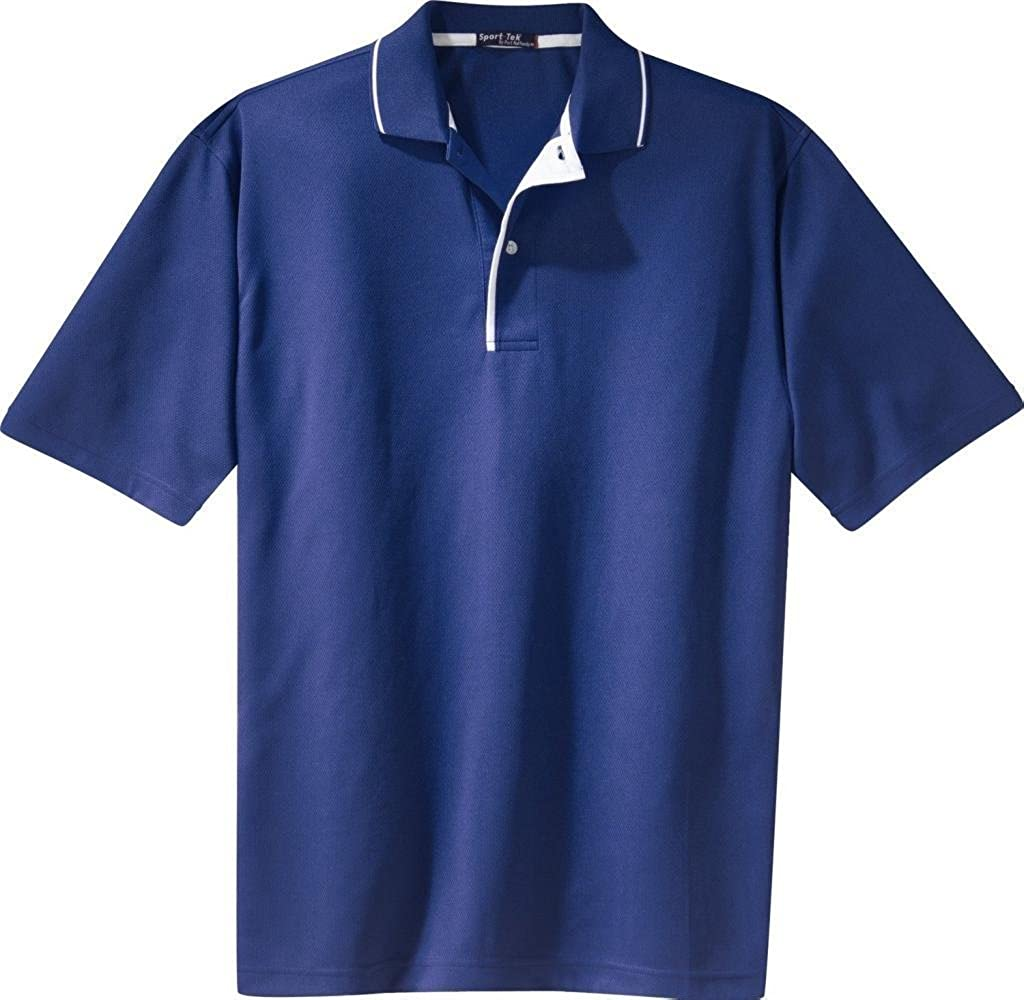 ab7b4e1c Sport-Tek - Dri-Mesh Polo with Tipped Collar and Piping. at Amazon Men's  Clothing store: