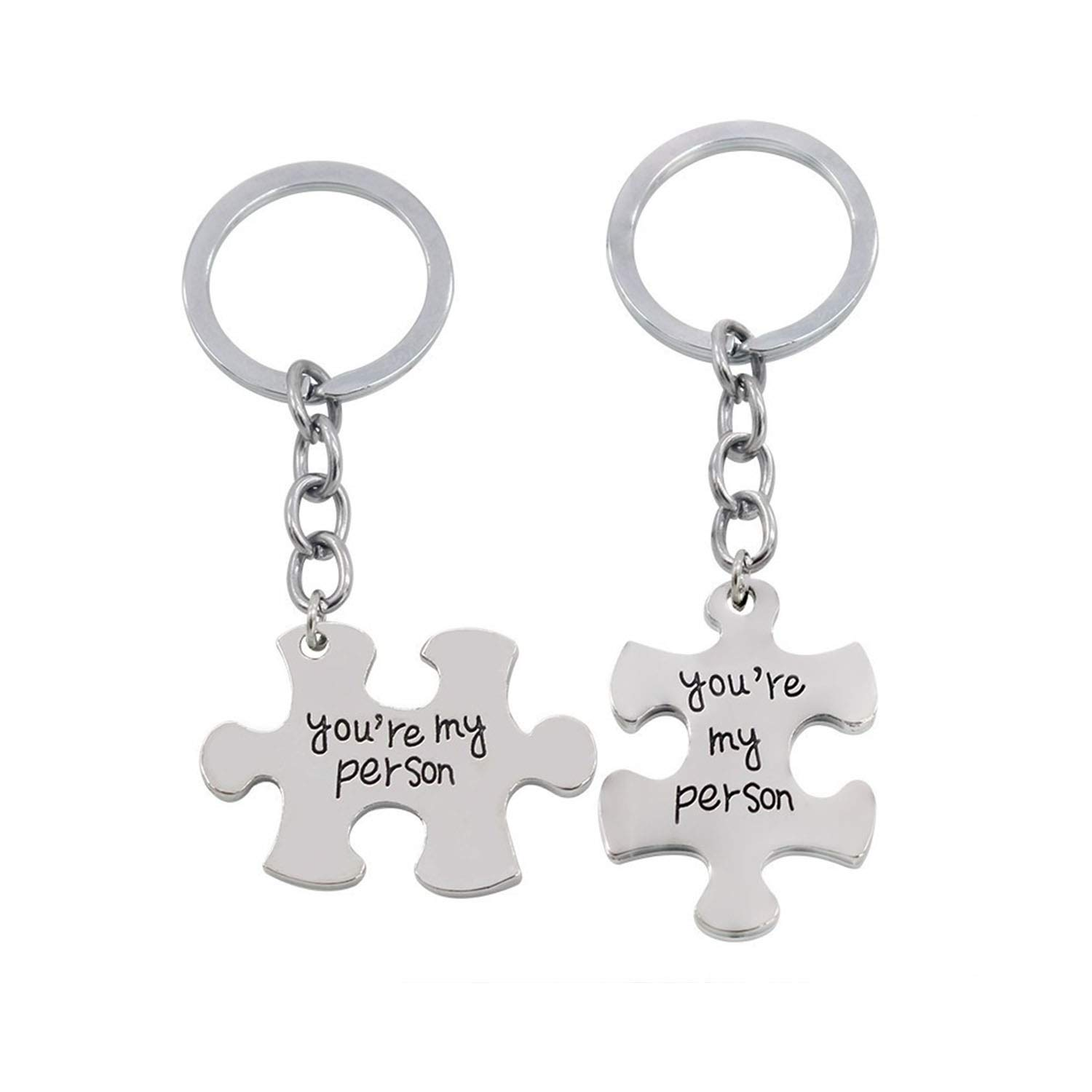 Amazon.com: I Love You Couple Keychain You are My Person ...