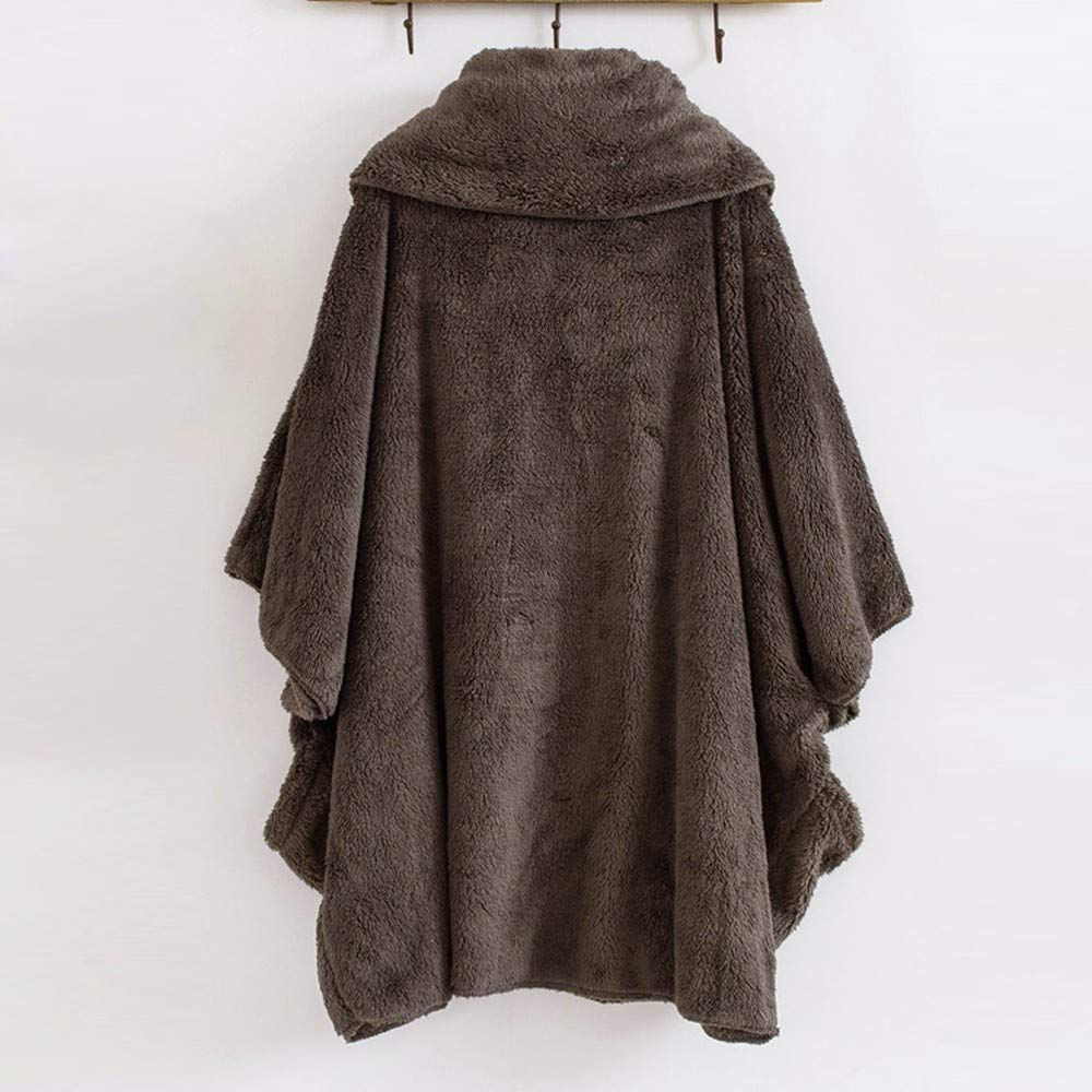 Longra Donne Pullover in Pile Maglione a Collo Alto Oversized Cappotto Invernale Giacca Invernale Poncho Mantella Trench Cardigans Outwear Cappotto Invernali da Donna