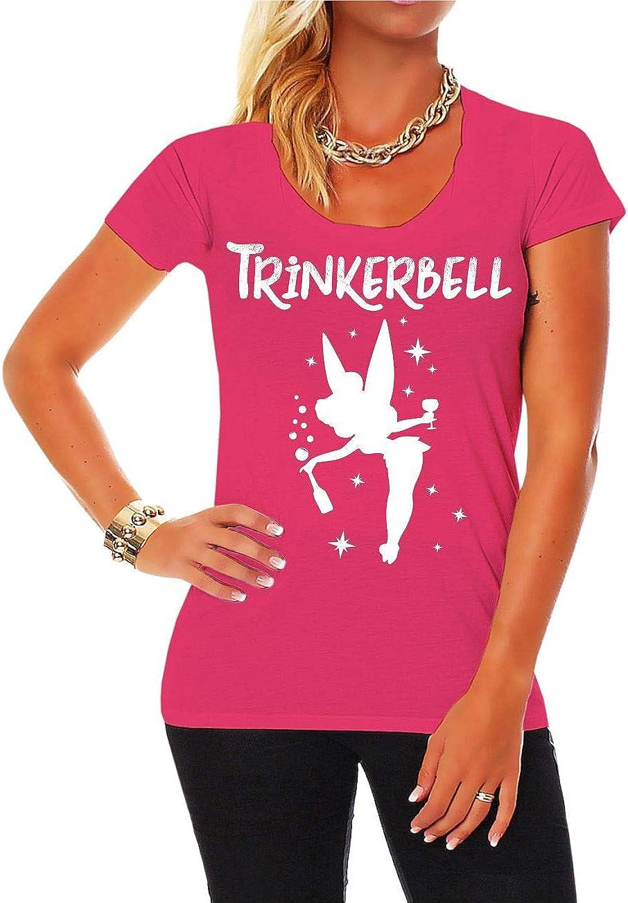 Frauen und Damen T-Shirt Trinkerbell Gr/ö/ße XS 5XL