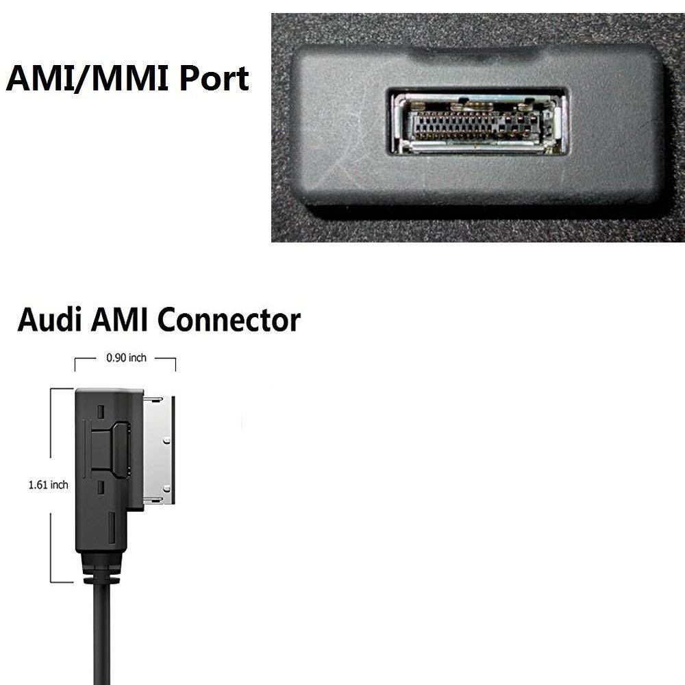 3 Feet USBC-AMI03 Drimfly USB Type-C AMI Cable,USB-C Aux Audio Adapter Cable for Audi and VW MDI