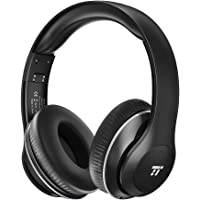 TaoTronics Wireless Headset Over Ear Headphones with Lightweight Memory Foam Ear Pads & Dual 40mm Drivers (3.5mm AUX, On Ear Controls, EQ Bass, 15 Hour Audio Playback)